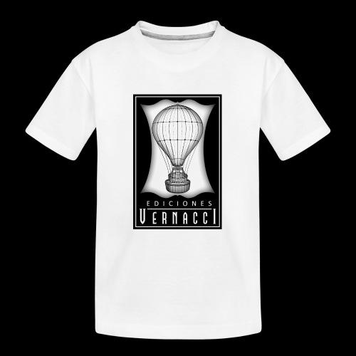 logotipo de ediciones Vernacci - Camiseta orgánica premium adolescente