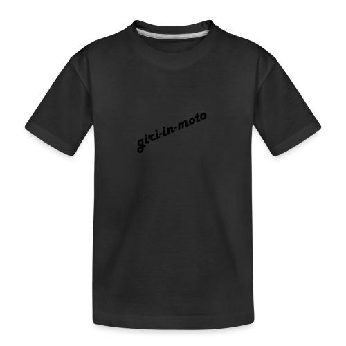 GIRI IN MOTO LIFESTYLE LADY NERO - Maglietta ecologica premium per ragazzi