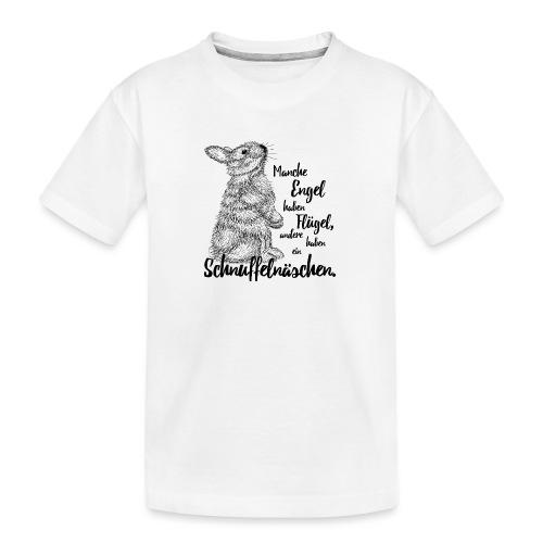 Kaninchen Hasen Zwergkaninchen Engel Liebe - Teenager Premium Bio T-Shirt