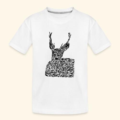 deer black and white - Teinien premium luomu-t-paita