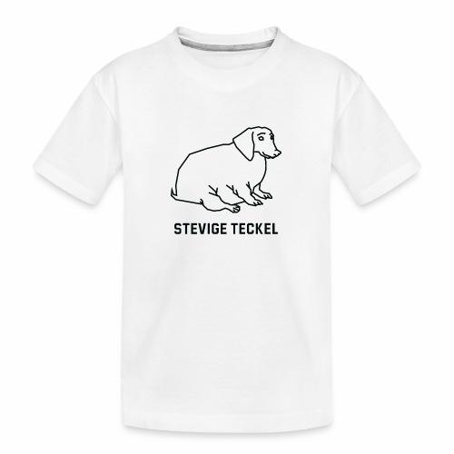 Stevige Teckel - Teenager premium biologisch T-shirt