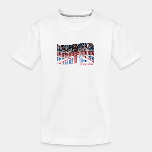 Made in Great Britain - Ekologiczna koszulka młodzieżowa Premium