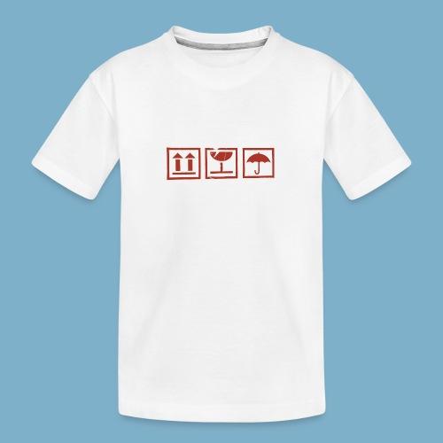 Zerbrechlich - Teenager Premium Bio T-Shirt