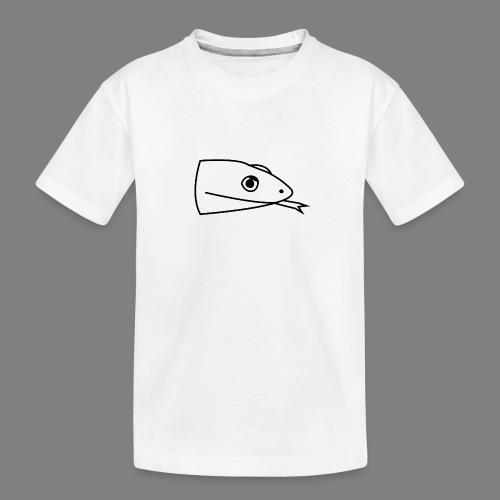 Snake logo black - Teenager premium biologisch T-shirt