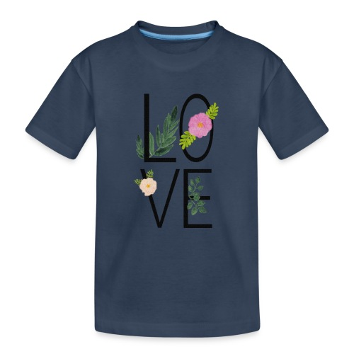 Love Sign with flowers - Teenager Premium Organic T-Shirt