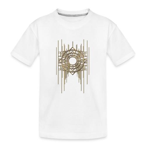 Abstract Geometry Gold Metal Art Deco Vintage - Teenager Premium Organic T-Shirt
