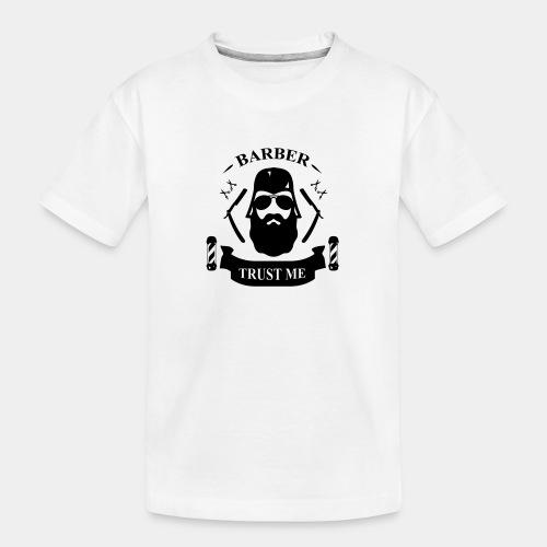 BARBER_2.0 - Ekologiczna koszulka młodzieżowa Premium