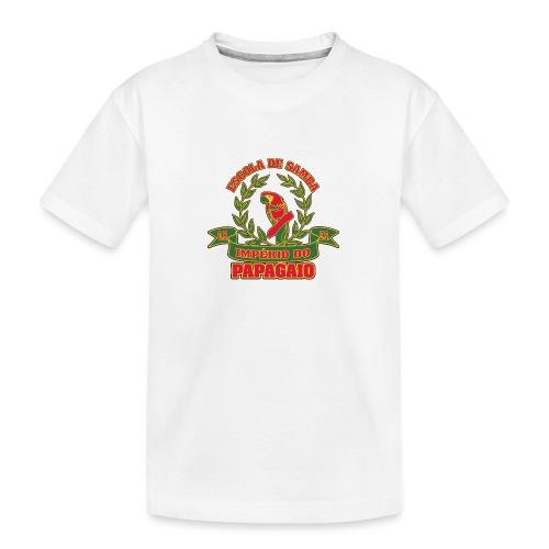 Papagaio logo - Teinien premium luomu-t-paita