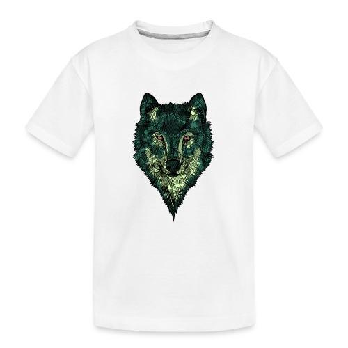 Ulv - Premium økologisk T-skjorte for tenåringer