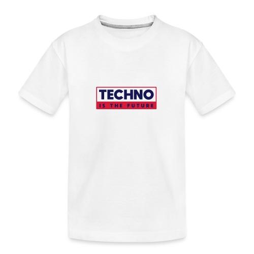 Techno is the future - Teenager Premium Organic T-Shirt