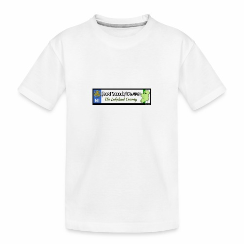 FERMANAGH, NORTHERN IRELAND licence plate tags eu - Teenager Premium Organic T-Shirt