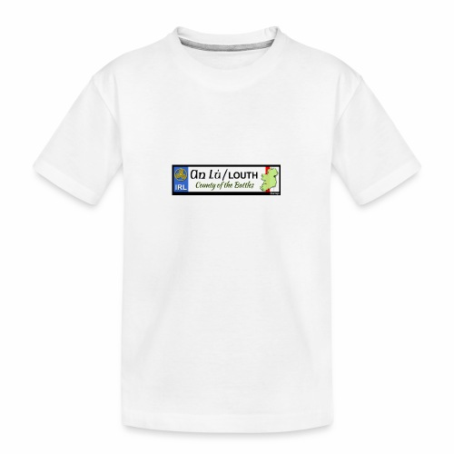 CO. LOUTH, IRELAND: licence plate tag style decal - Teenager Premium Organic T-Shirt