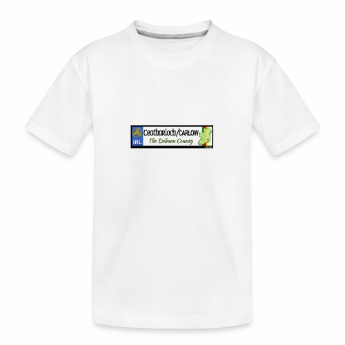 CARLOW, IRELAND: licence plate tag style decal - Teenager Premium Organic T-Shirt