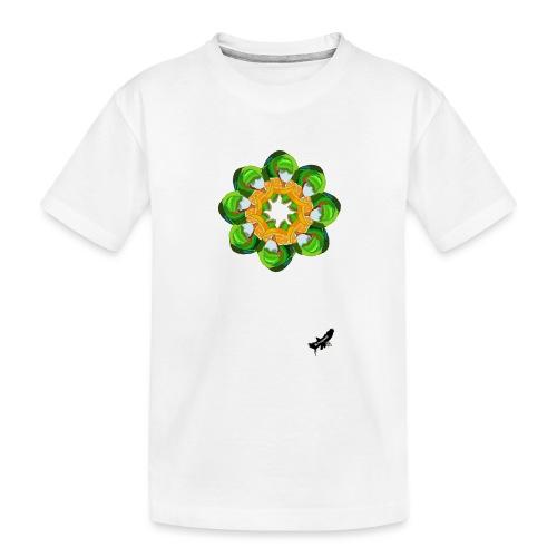 Parrot Pattern by BlackenedMoonArts, w. logo - Teenager premium T-shirt økologisk
