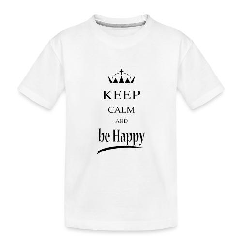 keep_calm and_be_happy-01 - Maglietta ecologica premium per ragazzi