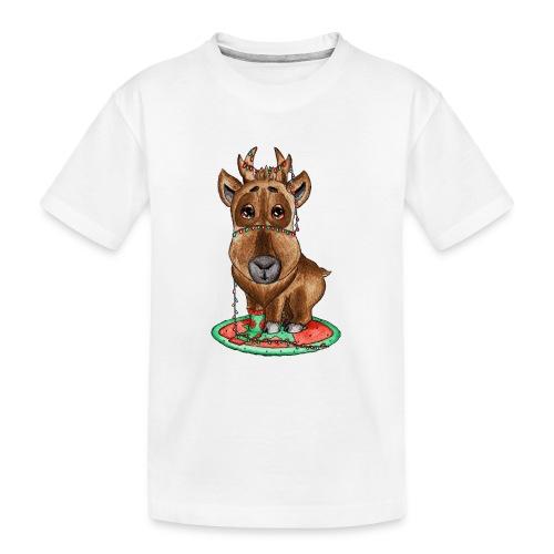 Reindeer refined scribblesirii - Teinien premium luomu-t-paita