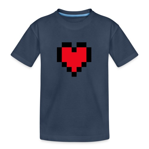 Pixel Heart - Teenager premium biologisch T-shirt