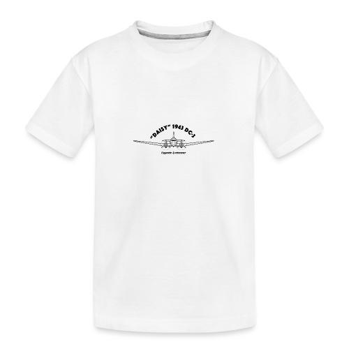 Daisy Blueprint Front 1 - Ekologisk premium-T-shirt tonåring