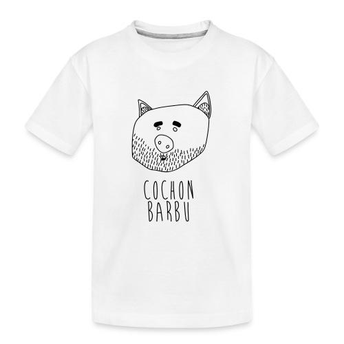 Cochon barbu - T-shirt bio Premium Ado