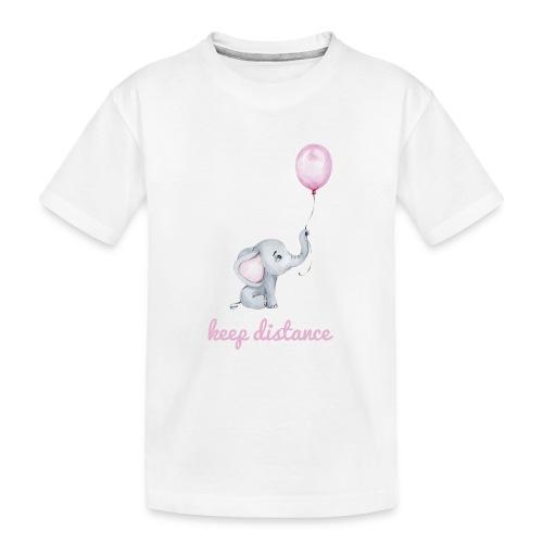 keep distance rosa - Teenager Premium Bio T-Shirt