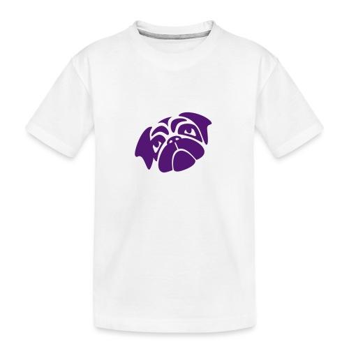 Mops mit schiefen Gesicht - Teenager Premium Bio T-Shirt