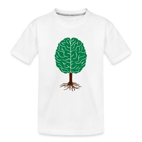 Brain tree - Teenager premium biologisch T-shirt