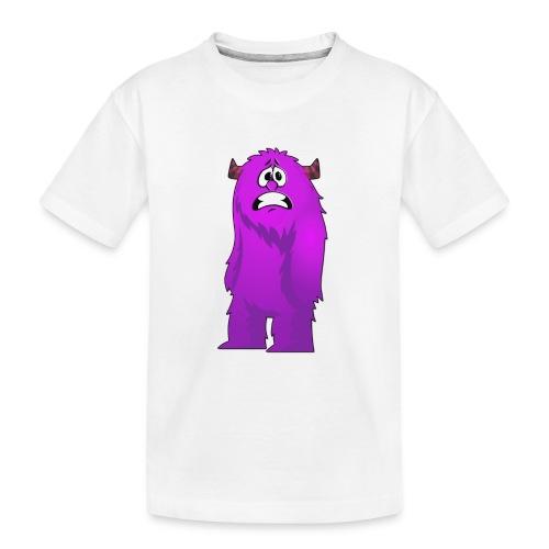 Lila Monster 10 - Teenager Premium Bio T-Shirt