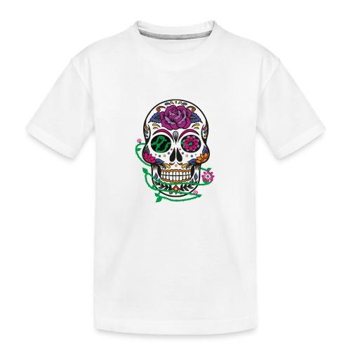 calavera 1 - Camiseta orgánica premium adolescente