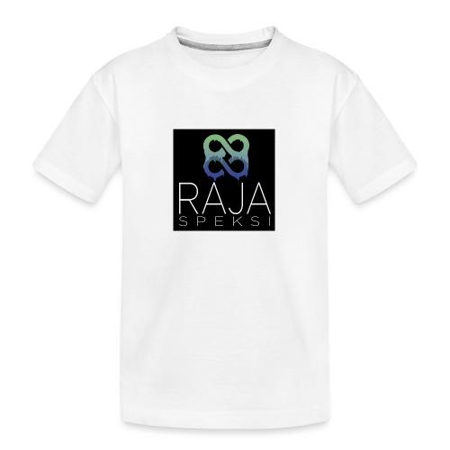 RajaSpeksin logo - Teinien premium luomu-t-paita