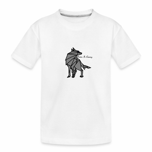 loup l'hiver vient - T-shirt bio Premium Ado