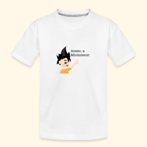 anseo, a mhúinteoir - Teenager Premium Organic T-Shirt