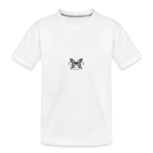 vlinder - Teenager premium biologisch T-shirt
