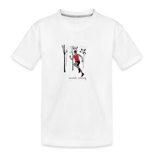 Zèbre running - T-shirt bio Premium Ado