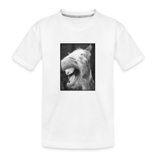 lachender Esel - Teenager Premium Bio T-Shirt