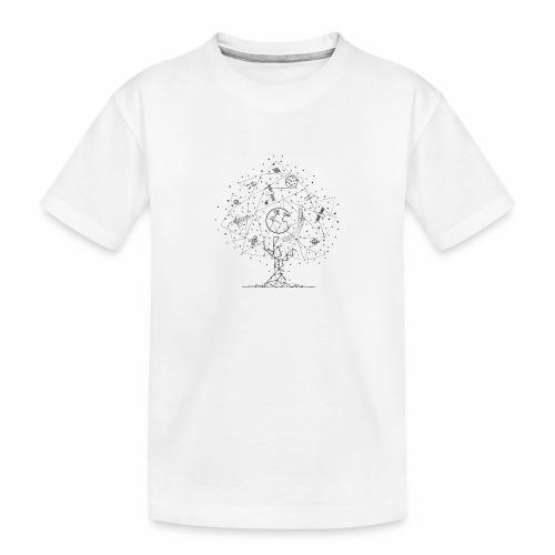 Interpretacja woodspace - Ekologiczna koszulka młodzieżowa Premium