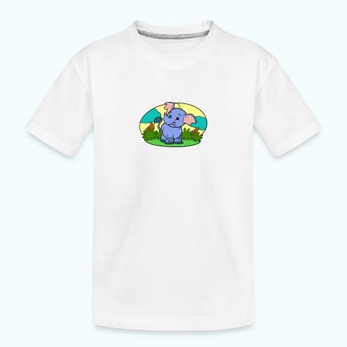 Tiny Elephant Art Collection - Teenager Premium Organic T-Shirt
