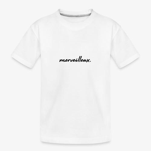 merveilleux. Black - Teenager Premium Organic T-Shirt