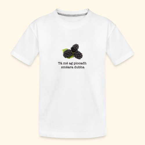 Picking blackberries - Teenager Premium Organic T-Shirt