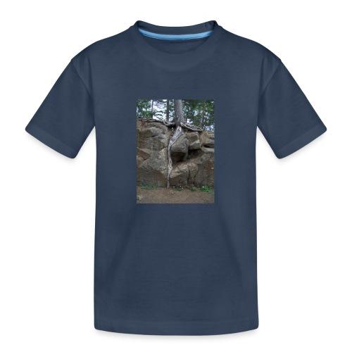 Juuret tukevasti maassa - Teinien premium luomu-t-paita