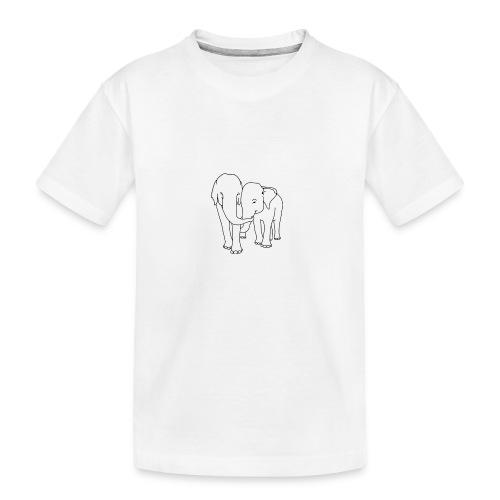 Olifanten - Teenager premium biologisch T-shirt