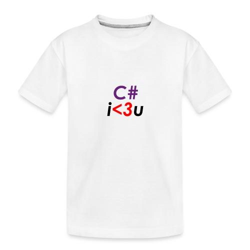 C# is love - Maglietta ecologica premium per ragazzi