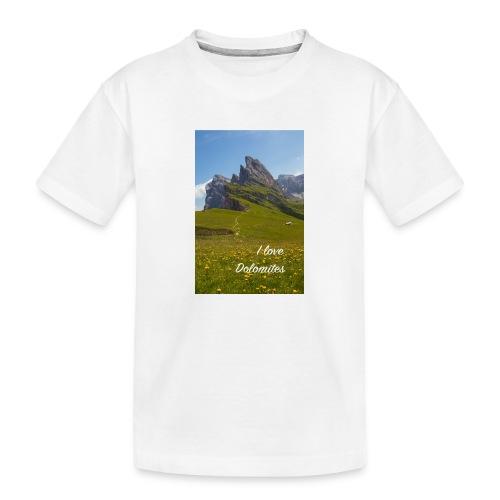 Seceda und Geisler Spitzen - Teenager Premium Bio T-Shirt