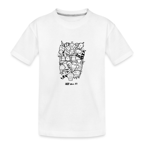 Just Doodle it Black - Teenager Premium Bio T-Shirt
