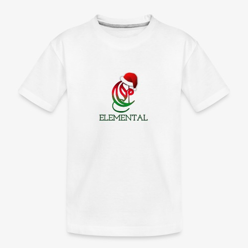 Exclusive Elemental Christmas Logo - Teenager Premium Organic T-Shirt