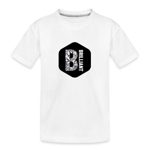 B brilliant black - Teenager premium biologisch T-shirt