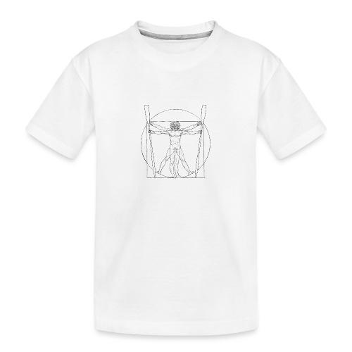 Vitruvian Skiffie black - Teenager Premium Organic T-Shirt