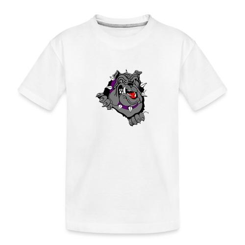 bulldog - Teenager premium biologisch T-shirt