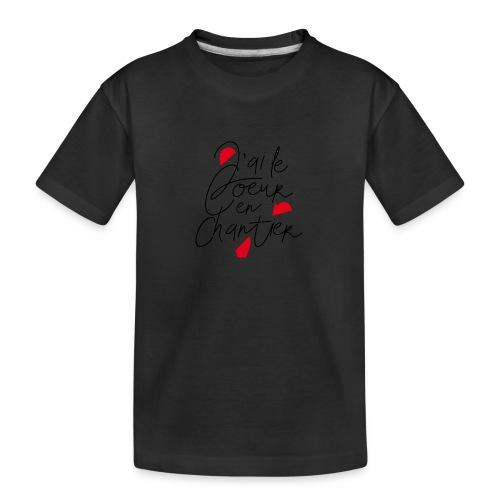 coeur en chantier - T-shirt bio Premium Ado