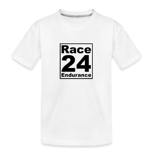 Race24 logo in black - Teenager Premium Organic T-Shirt