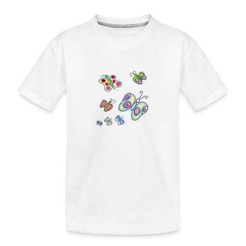 Allegria di farfalle - Maglietta ecologica premium per ragazzi